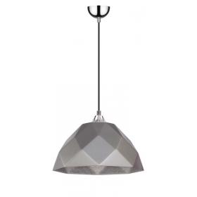 lampa wisząca z szarym kloszem