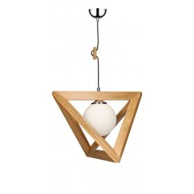 Lampa wisząca z drewnianymi elementami