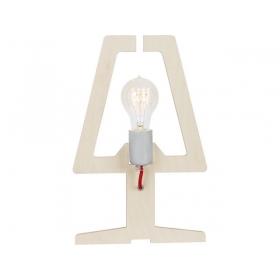 Lampka stojąca drewniana bulb