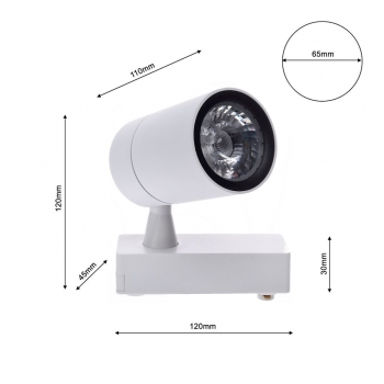 Lampa sufitowa LED 7W TRACK LIGHT MiLAGRO