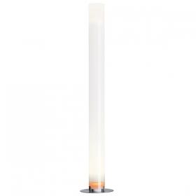 Lampa stojąca tuba biała